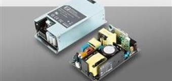 Компактные бюджетные источники питания AC/DC на 450 Вт для промышленного, медицинского и IT-оборудования