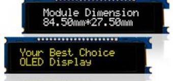Новый 2,93–дюймовый текстовый OLED-дисплей на печатной плате с рамкой
